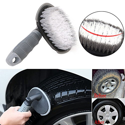 Dual Shower Baster (Car Rims Tyre Cleaning Brush T-Type Multi-Functional Wheel Hub Washing Tool New)