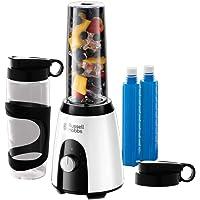Russell Hobbs Horizon Mix & Go Boost Batidora de Vaso Individual - 400 W, Sin BPA, Blanco y Negro, 2 Vasos de 600 ml, 2…