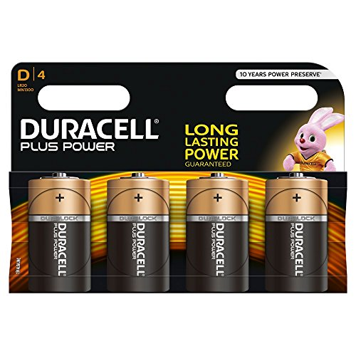 DURACELL D PLUS 4 PACK COPPER/BLACK