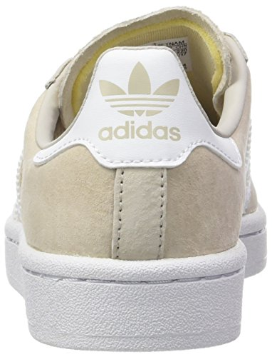 Adidas Campus W Sneakers Lacci Donna Scamosciate Pelle Brown Beige By9846 Natural