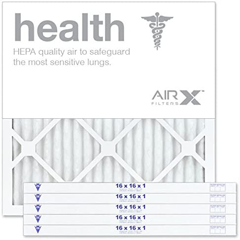 AIRx HEALTH 16x16x1 MERV 13 Pleated Air Filter - Made in the USA - Box of 6