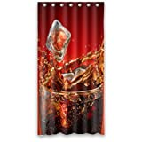 Coca Cola Shower Curtain Custom Waterproof Bathroom Summer Cool Coke Shower Curtain Polyester Fabric Shower Curtain 36