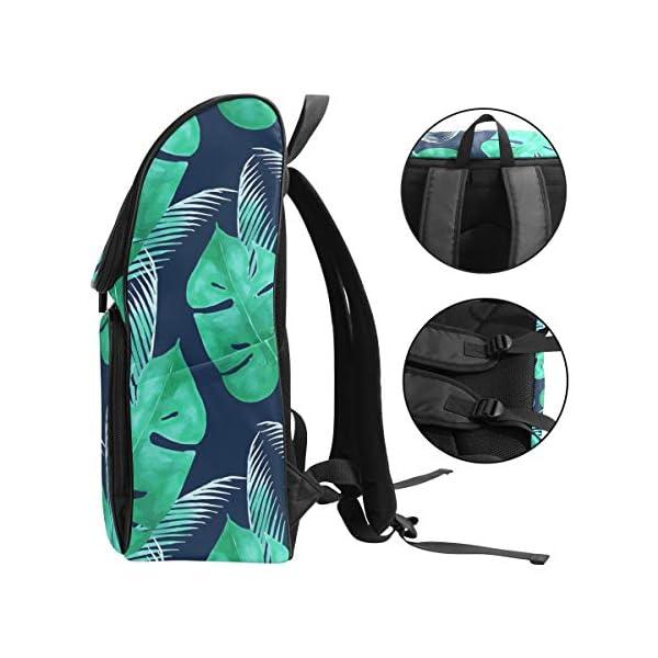 DXG1 Zaino Tropicale Verde Foglia Blu Navy Borsa Moda Borsa per Donne Uomini Ragazzo Ragazzo Bookbag Viaggio College… 3 spesavip
