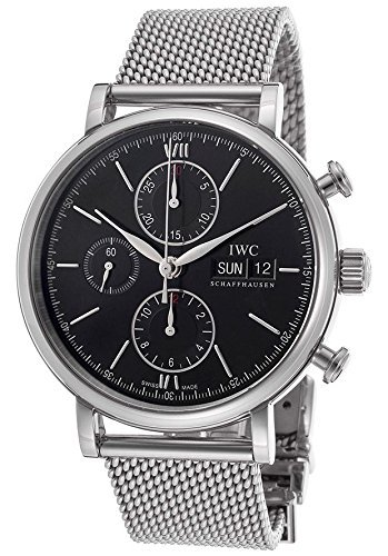 IWC portfonio Cronógrafo Automático Negro Dial Acero Mens Reloj IW391010 por IWC: Amazon.es: Relojes
