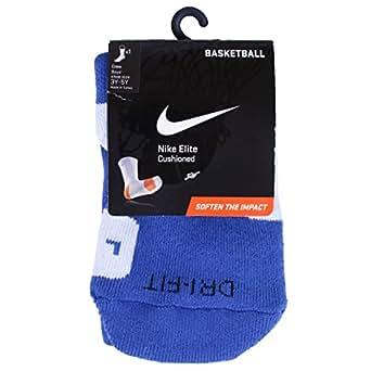NIKE Elite Basketball Crew Socks-Small, Game Royal/White