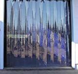 Kuber Industries 1 MM Thick PVC 6 Strips AC Curtain for Offices & Shop -7 Feet (Dimension-84*54 Inches) Code- Stripes06