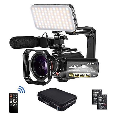 Camcorder 4k Video Camera, ORDRO HD 1080P 60FPS Vlog Camera IR - Sale: $254.99 USD (15% off)