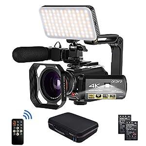 Flashandfocus.com 51Zi8ldaC2L._SS300_ Camcorder 4k Video Camera, ORDRO HD 1080P 60FPS Vlog Camera IR Night Vision Video Recorder 3.1'' IPS WiFi Camcorder with…