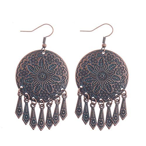 ZHUBAOO Leaf Pendant Earring Fashion Dangle Earrings for Women ()