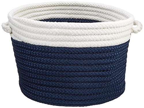 Dipped Indoor/Outdoor Baskets Colonial Mills, 14 by 10-Inch, Navy