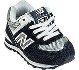 New Balance KL574 Classic I Running Shoe (Infant/Toddler),Navy/White,9 M US Toddler