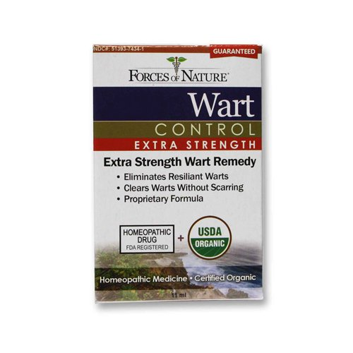 Forces of Nature Organic Wart Control - Extra Strength - 11 ml - 95%+ Organic - by Forces Of Nature