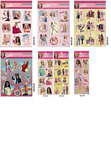 Lot 7 pcs Barbie Stickers Decal Collectible]()