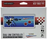 Retro-Bit Mega Man NES & USB Dual Link Controller for PC, Mac, and Nintendo Entertainment System - NES;