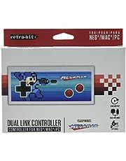 Retro-Bit Mega Man NES & USB Dual Link Controller for PC, Mac, and Nintendo Entertainment System - NES;