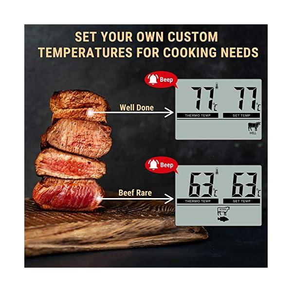 ThermoPro TP04 Termometro Cucina Digitale con Una Sonda e modalità Timer per Alimenti Carne Barbecue BBQ Forno Griglia… 4
