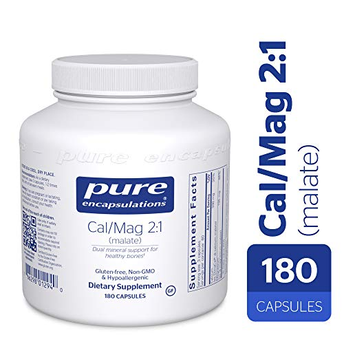Pure Encapsulations – Cal/Mag (Malate) 2:1 – Hypoallergenic Calcium and Magnesium Supplement in a 2-to-1 ratio – 180 Capsules Review