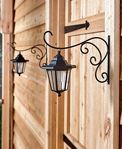 51Zi9QcKI L - The Lakeside Collection Set of 2 Solar Lanterns