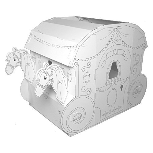 My Very Own House Coloring Playhouse, Princess Carriage