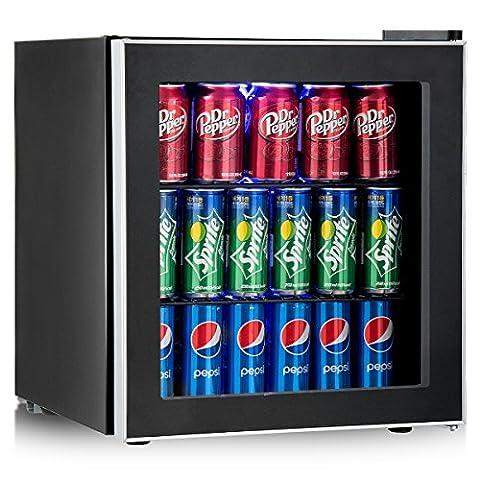 Costway Beverage Refrigerator Portable Mini Beer Wine Soda Drink Beverage Cooler Black