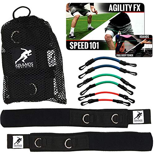 Kbands | Advanced Speed Strength Leg Resistance Bands | Includes Speed 101 Agility FX Digital Training Programs