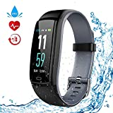 WELTEAYO Fitness Tracker Heart Rate Monitor Activity Tracker Watch Color Screen Smart Bracelet with Sleep Monitor and Blood Pressure IP67 Waterproof Smart Bracelet for Android and iOS