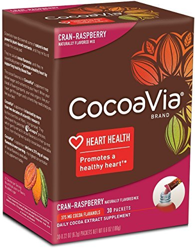 - CocoaVia Cocoa Extract Dietary Supplement, Cran-Raspberry Flavor, Powdered Mix, 30 Packets