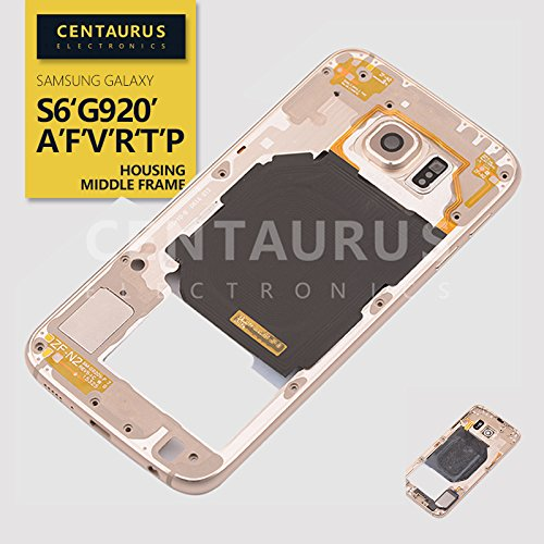 Housing Middle Frame Replacement For Samsung Galaxy S6 G920 G920F G920A G920P G920V G920R G920T Gold USA by CE CENTAURUS ELECTRONICS