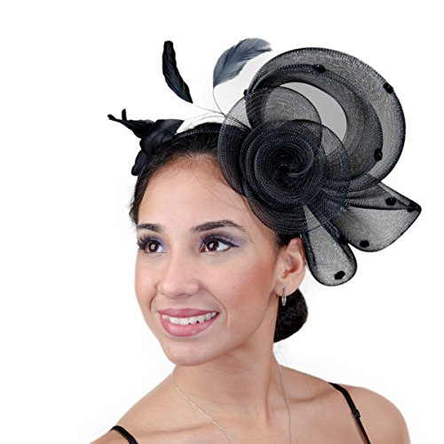 Fascinators Cocktail Hat - 5610H (Black)