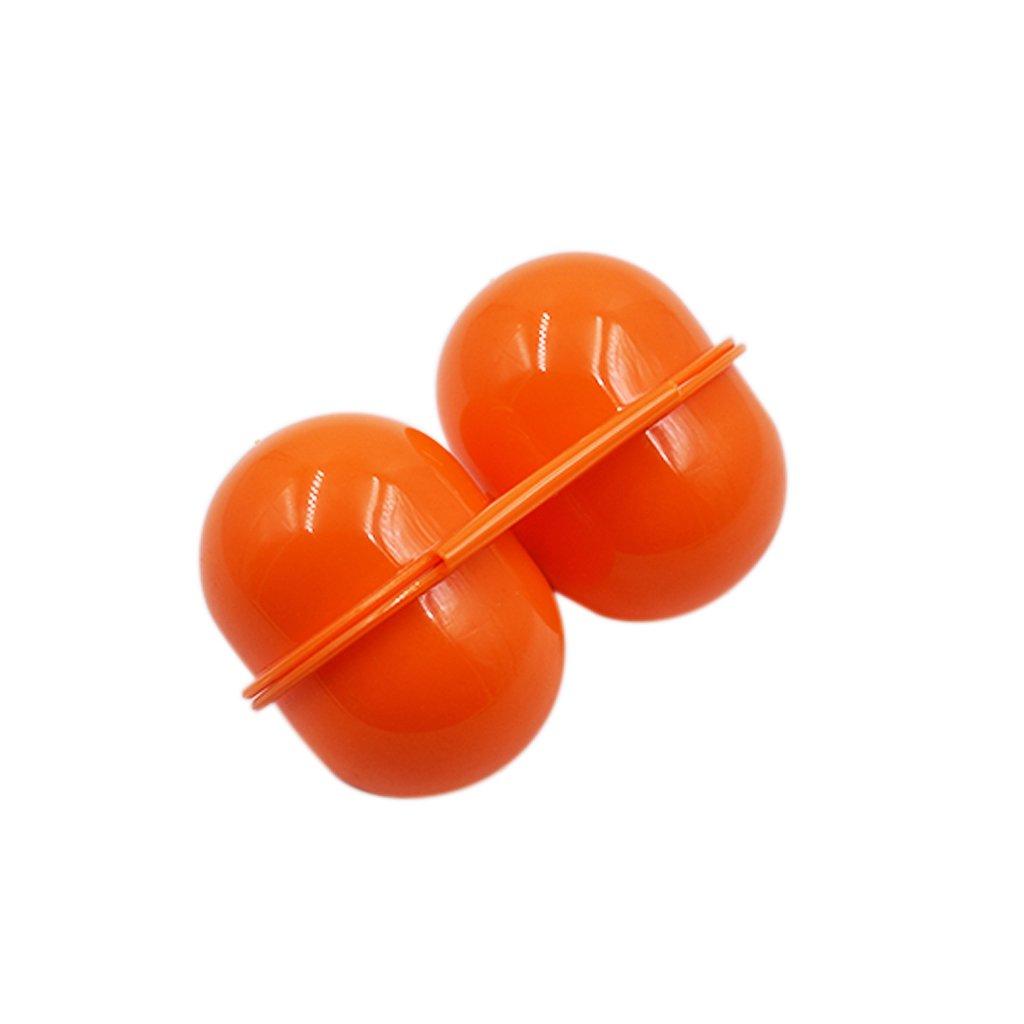 Fliyeong Tragbare Eierhalter Kunststoff 2 Grids Eier Fall Ei Besch/ützer Eierablage Tr/äger Container f/ür Outdoor Storage Picknick Verwenden 1 St/ücke Orange