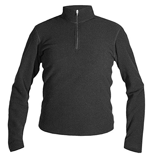 Hot Chillys Youth Pepper Fleece Zip-T, Black, Small