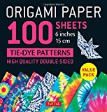 """Origami Paper 100 sheets Tie-Dye Patterns 6"""" (15 cm): Tuttle Origami Paper: High-Quality Origami Sheets Printed with 8 Different Designs: Instructions for 8 Projects Included (Origami Paper Pack)"""