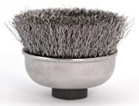 Hot Max 26061 3-Inch Single Row Knotted Wire Cup Brush, Coarse, 5/8-Inch-11NC