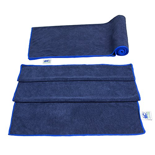 fan products of Terry Microfiber Towels (2-Pack) – Plush Small & Compact for Gym, Sports, Travel and Camping – Antibacterial, Hypoallergenic, Super Absorbent & Fast Drying – Includes Mesh Bag