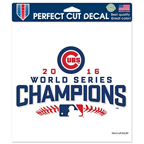 WinCraft Chicago Cubs World Series Champions 8 x 8 Perfect Cut Color Decal