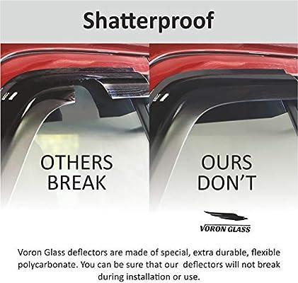 Voron Glass Tape-on Extra Durable Rain Guards for Toyota RAV4 2013-2018 SUV 120055 Window Deflectors Vent Window Visors 4 Pieces
