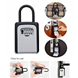 Oldeagle 4-Digit Security Combination Lock Key Safe Storage Box Padlock Home Outdoor Secure Tool
