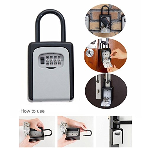 Oldeagle 4-Digit Security Combination Lock Key Safe Storage Box Padlock Home Outdoor Secure Tool by oldeagle