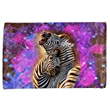 Zebra Lovers Splatter All Over Hand Towel Multi Standard One Size