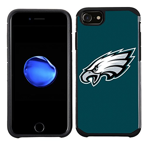 Prime Brands Group Cell Phone Case for Apple iPhone 8/ iPhone 7/ iPhone 6S/ iPhone 6 - NFL Licensed Philadelphia Eagles Textured Solid Color