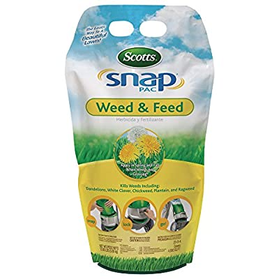 Scotts 24590 Snap Pac Lawn Food Weed & Feed (3 Pack), 12.8 lb