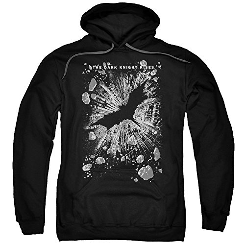 Trevco Men's Dark Knight Rises Crumbled Adult Hooded Sweatshirt at Gotham City Store