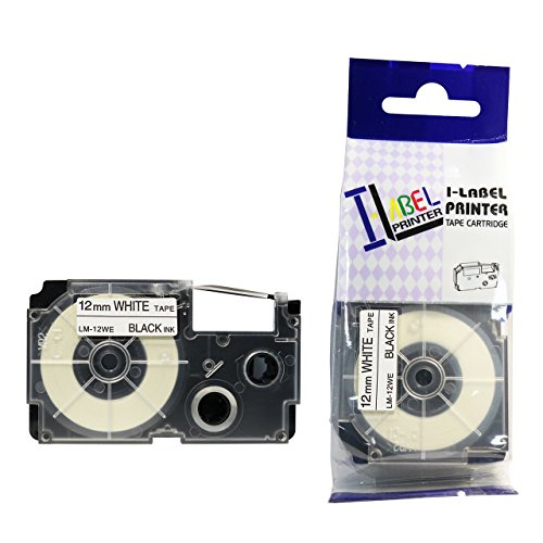 8200 12mm Black on White Compatible Label Tape for Casio KL8200 EZ Label Printer ()