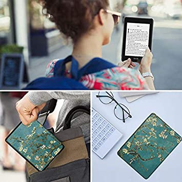 2018 release 10th Generation-2018 PU Leather Smart Case with Auto Sleep//Wake for  Kindle Paperwhite AKNICI  Kindle Paperwhite Leather Cover| Compatible with 10th Generation Butterfly