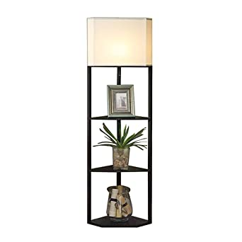 Lily Einfache Ecke Stoff Stehlampe 3 Stockige Racks Stehlampe