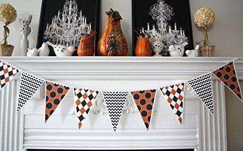 Halloween Banner, Halloween Mantle Decorations, Halloween Bunting, Halloween (Halloween Garland For Mantle)