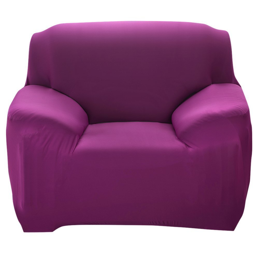 PengXiang Stretch Slipcovers, Chair Loveseat Sofa Covers, Furniture Protector with Elastic Bottom, Anti-Slip Foams, 1 Piece Couch Shield, Polyester Spandex Fabric