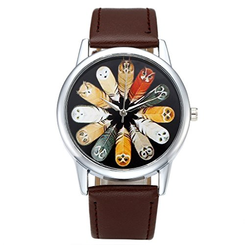 Top Plaza Leather Fashion Watch Coffee