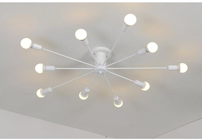 Dfhhg soffitto in ferro stile nordico americano illuminazione