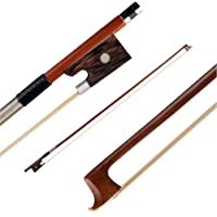 Gecheer Professional 1/2 Violin Fiddle Bow Well Balanced Round Brazil Wood Bowstick Rosewood Frog Exquisite Horsehair
